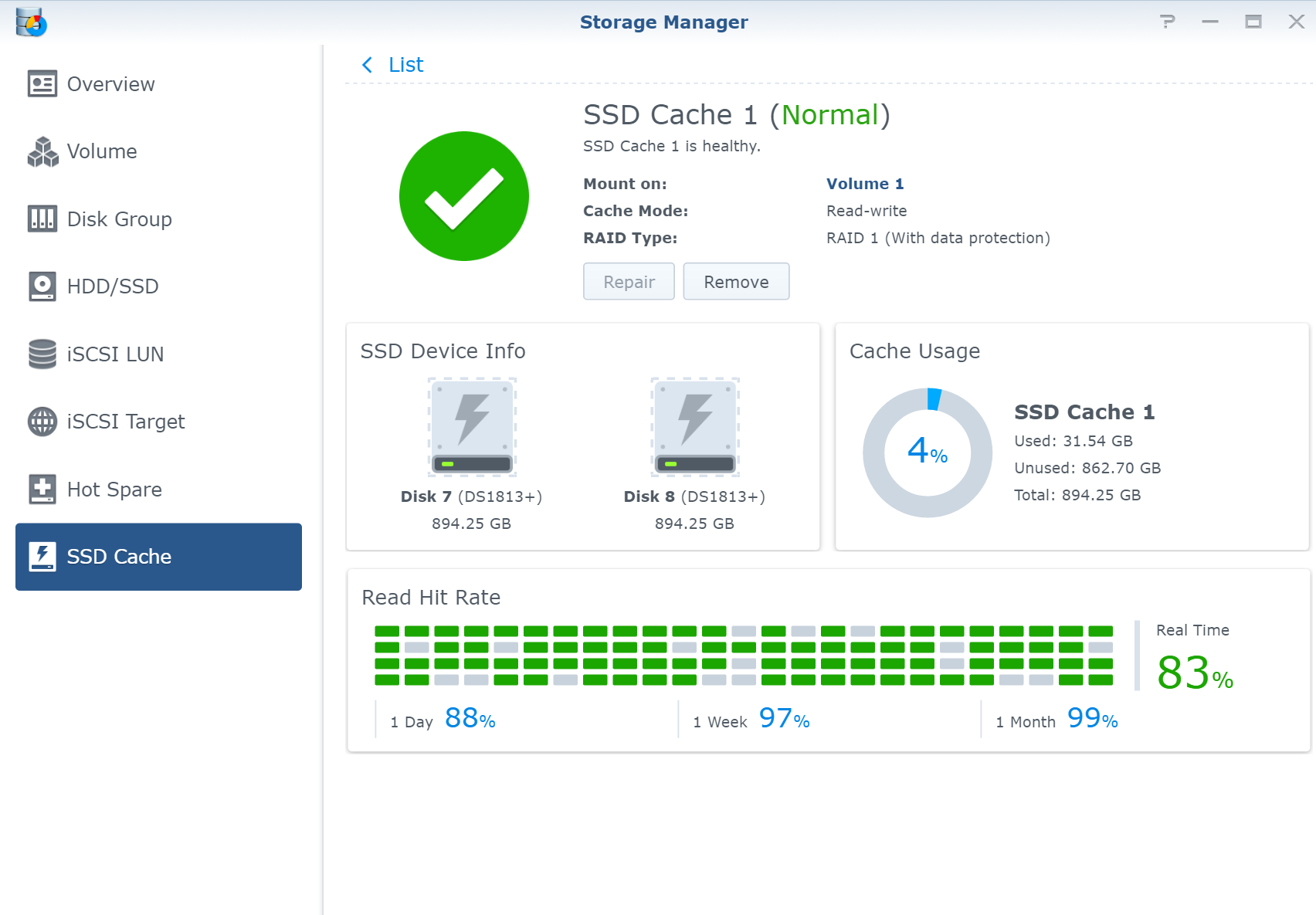 Adding disk caching to a Synology NAS to improve video streaming